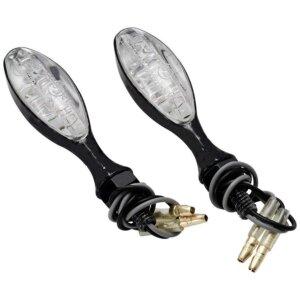 Поворотники светодиодные овальные черные