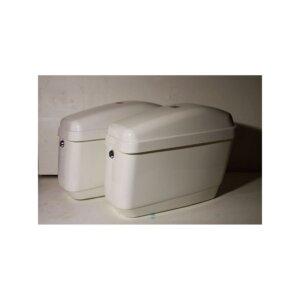 Кофры боковые жесткие (пластик) белые (Код: GA SIDE BOX WHITE)
