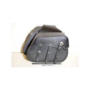 Кофры для мотоцикла кожаные боковые (Код: WS-1025)