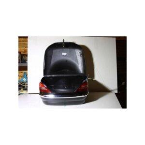 Кофр задний (пластик) под авто черный с габаритами и спинкой (Код: HLWX002021 BLACK)