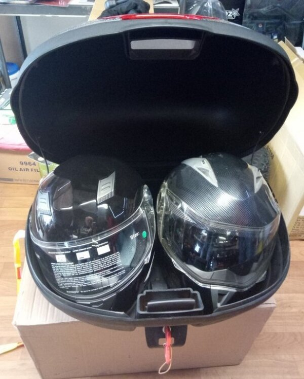 Кофр для мотоцикла 46л под два шлема