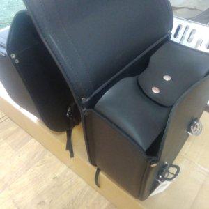 Кофры для мотоцикла чоппера Richa SB 201 боковые кожаные