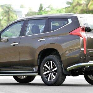 Защита задняя уголки 76,1 мм для Mitsubishi Pajero Sport 2013-2016