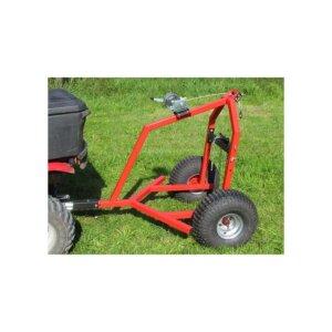 Прицеп к квадроциклу Iron Baltic ATV log hauler with electric winch kit 3