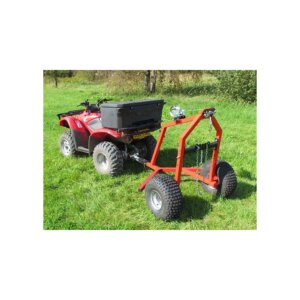 Прицеп к квадроциклу Iron Baltic ATV log hauler with electric winch kit 1