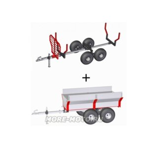 Прицеп к квадроциклу Iron Baltic ATV timber trailer + cargo box 2-in-1 1