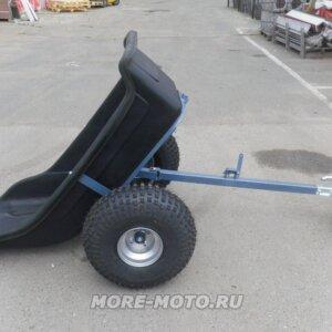 Прицеп для квадроцикла Farmer на колесах низкого давления с опрокинутым кузовом