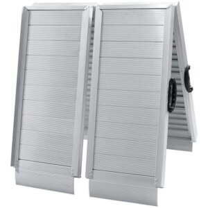 Трап алюминиевый складной широкий с ровной поверхностью 183 см 136 кг Biltema 1