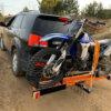 Мотохвост для перевозки мотоцикла на фаркопе