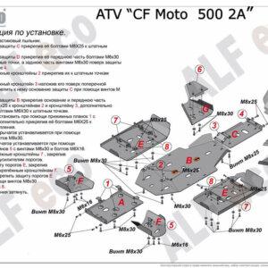 Комплект защиты для квадроцикла CF Moto 500 2A