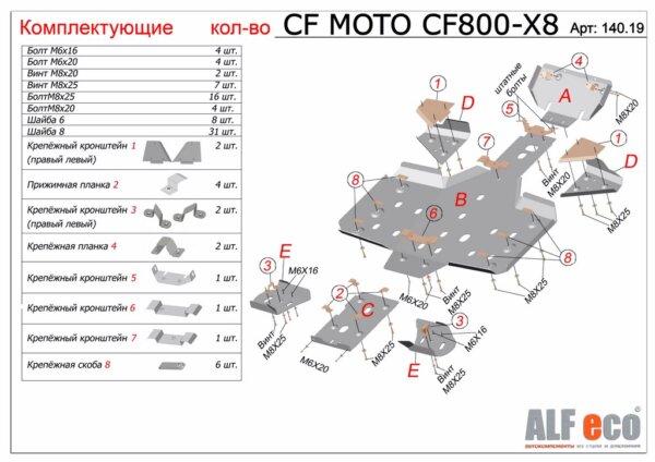 Комплект защиты для квадроцикла CF Moto CF800 X8