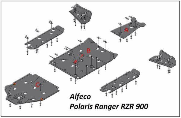 Комплект защиты для квадроцикла Polaris 900 EFI RZR XP