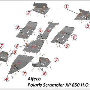 Комплект защиты для квадроцикла Polaris Scrambler 850 H.O