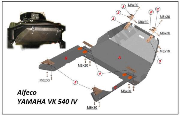 Защита днища для снегохода YAMAHA VK 540 IV